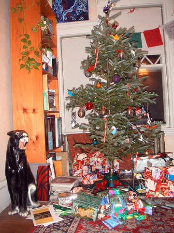 christmas tree before image